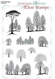 Terrific Treescapes Clear stamp sheet -  A5