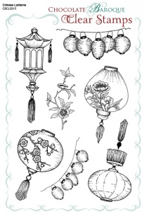 Chinese Lanterns Clear stamp sheet -  A5