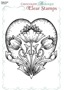 Poppy Baroque Heart Single Clear stamp