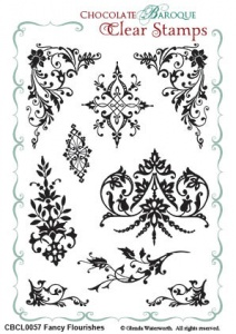 Fancy Flourishes Clear stamp sheet - A5