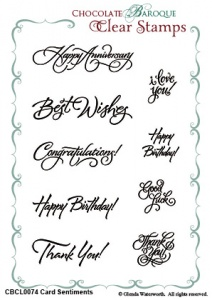 Card Sentiments Clear stamp set