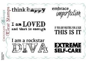 Rockstar Diva Clear stamp set
