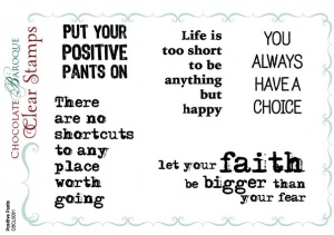 Positive Pants Clear stamp set