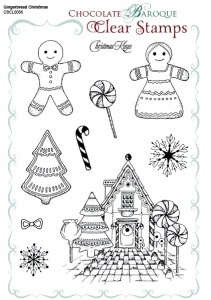 Gingerbread Christmas Clear stamp set