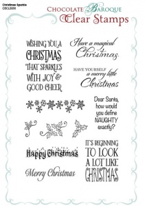 Christmas Sparkle Clear stamp set - A5