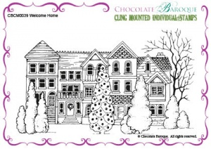 Welcome Home cling mounted rubber stamp
