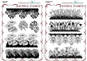 Springtime Edges/Elegant Edges Rubber stamps Multi-buy - A5