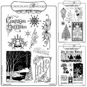 Christmas A5 Rubber stamp Collection 2011
