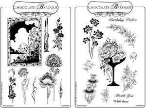 Fantasy Meadow/Floral Bouquet Rubber stamps Multi-buy - A5