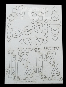 Tando Creative  Laser Cut Board - Decorative Hinges