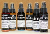 Brusho Acrylic Sprays set - Shimmer pack of 6