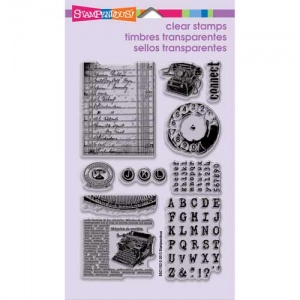 Stampendous Clear Stamp set - Vintage Press