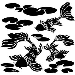 Crafter's Workshop Template 6x6 - Koi Pond