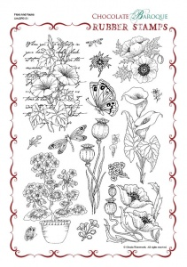 Flora and Fauna Rubber Stamp Sheet - A4
