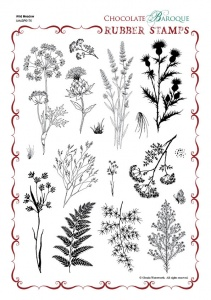 Wild Meadow Rubber Stamp Sheet - A4