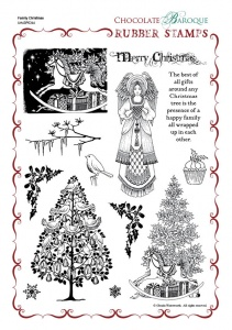 Family Christmas Rubber Stamp Sheet - A4
