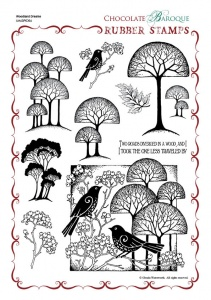 Woodland Dreams Rubber stamp sheet - A4