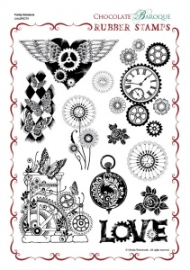 Punky Romance Rubber stamp sheet - A4