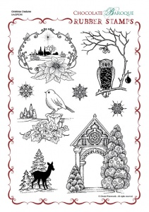 Christmas Creatures Rubber stamp sheet - A4