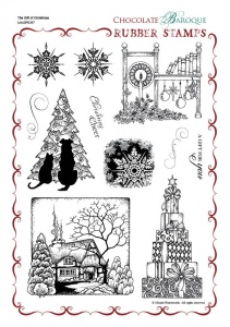 The Gift of Christmas Rubber stamp sheet - A4