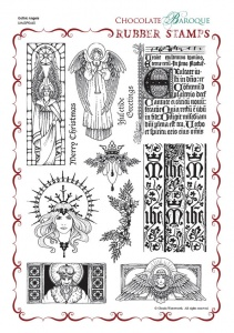 Gothic Angels Rubber stamp sheet - A4