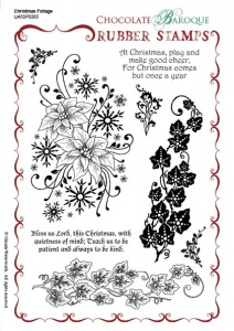 Christmas Foliage A5 Rubber Stamp