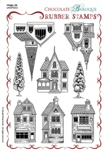 Village Life Rubber stamp sheet - A5