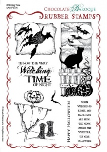 Witching Time Rubber stamp sheet - A5