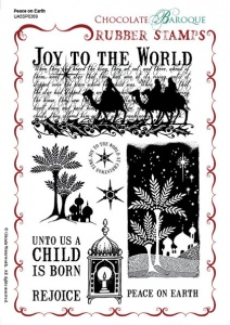 Peace on Earth Rubber Stamp sheet - A5