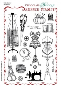 Haberdashery Rubber Stamp sheet - A5