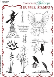 Hocus Pocus Rubber Stamp sheet - A5