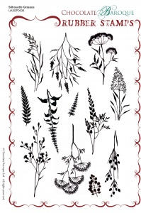 Silhouette Grasses  Rubber Stamp sheet - A5