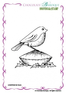 Mr Robin Single Rubber stamp  - A6