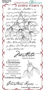 Mistletoe Script Rubber Stamp Sheet - DL