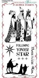 Following Yonder Star Rubber Stamp Sheet - DL