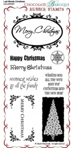 Last Minute Christmas Rubber Stamp Sheet - DL