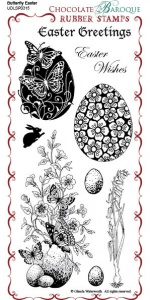 Butterfly Easter  Rubber Stamp Sheet - DL
