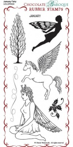 January Fairy Rubber Stamp sheet - DL