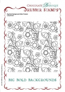 Big Bold Background Belle Flowers Single Rubber stamp