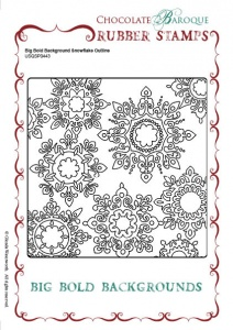 Big Bold Background Snowflake Outline Single Rubber stamp