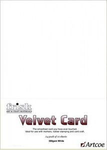 Frisk A4 300gsm Velvet Card - Brilliant White (pack 10)