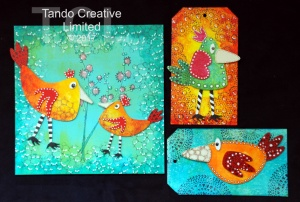 Tando Creative - Whimsical Birds set 1