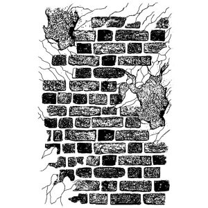 Stamperia cling mounted rubber stamp - Bricks