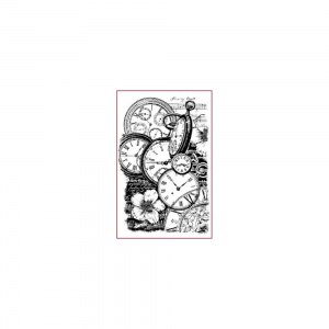 Stamperia cling mounted rubber stamp - Clocks