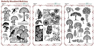 Butterfly Dreams, Woodland Dreams & Fantasy Woodland Rubber stamps Multi-buy - A4
