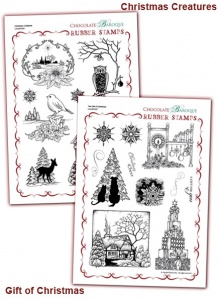 Christmas Creatures/The Gift of Christmas Rubber stamps Multi-buy - A4