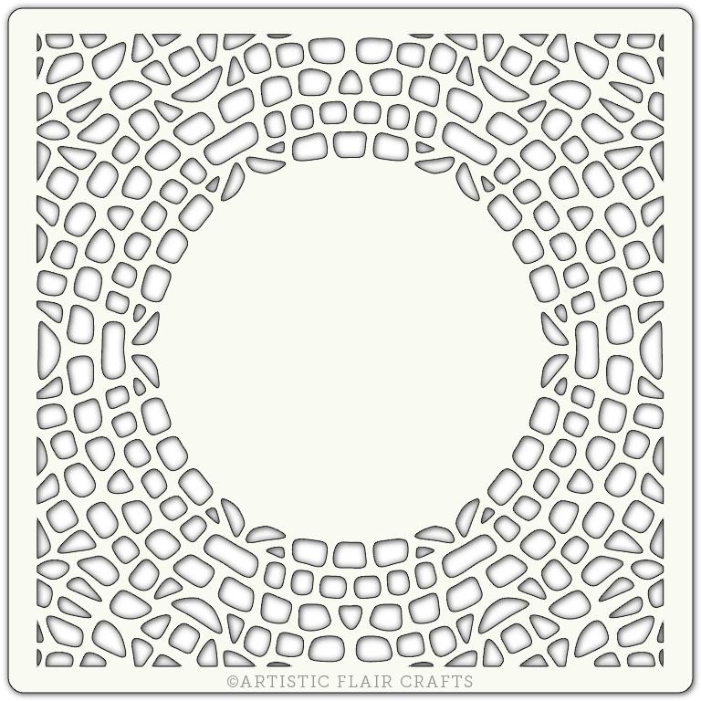 """Artistic Flair 152 Range (6""""X6"""") - Mosaic Border Stencil Template"""