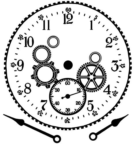 Clock Hands Drawing um Cogs Clock And Hands
