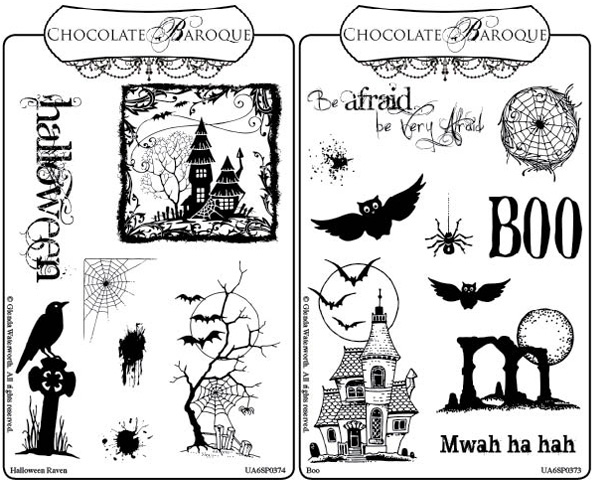 Boo and Halloween Rubber stamps Multi-buy - A6 - Chocolate Baroque