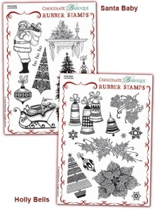 Holly Bells/Santa Baby Rubber stamps Multi-buy - A5